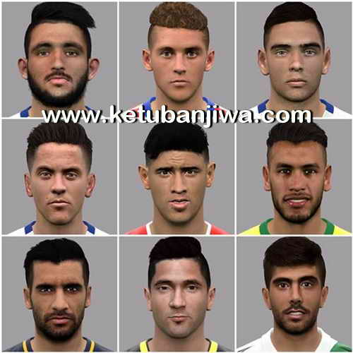 PES 2017 Facepak 9 Faces by LF Facemaker Ketuban Jiwa