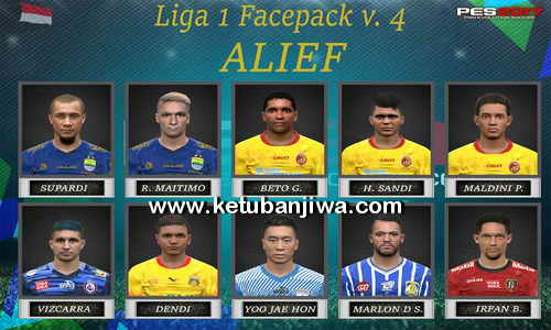 PES 2017 Gojek Traveloka Liga 1 Faces Pack v4 For iPatch + SSPatch by Alief Facemaker Ketuban Jiwa