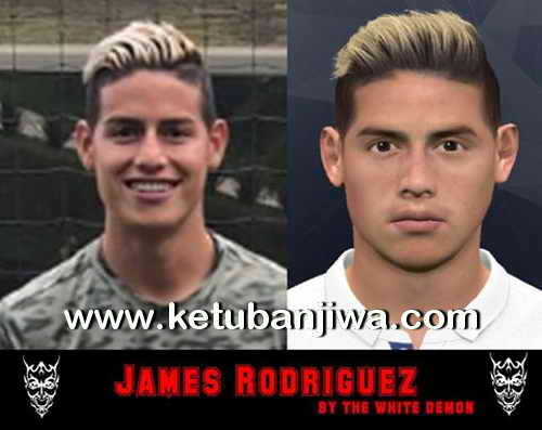 PES 2017 James Rodriguez New Hair Update by The White Demon Ketuban Jiwa