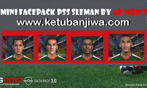 PES 2017 Mini Faces Pack PSS Sleman v1 For iPatch by AD Mod's Ketuban Jiwa