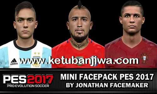 PES 2017 Mini Faces Pack by Jonathan Facemaker Ketuban Jiwa