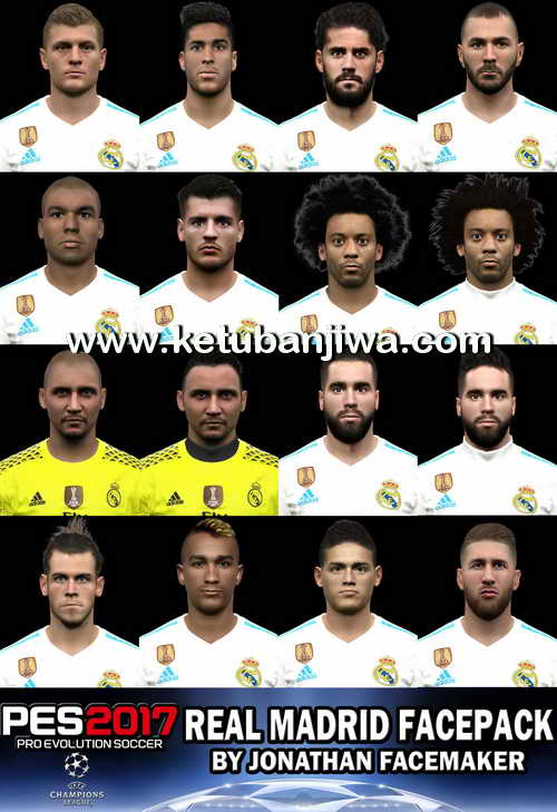 PES 2017 Real Madrid Facepack Update 19 June 2017 by Jonathan Facemaker Ketuban Jiwa