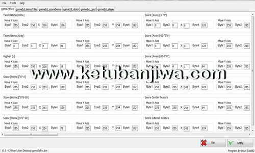 PES 2017 ScoreBoard Editor v1 Tool by Devil Cold52 Ketuban Jiwa