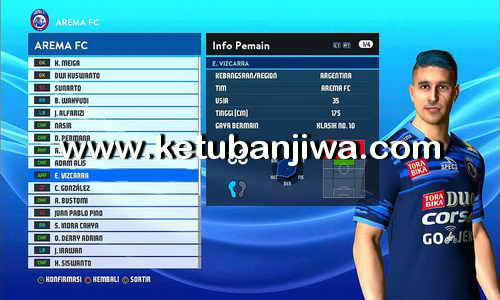 Download PES 2017 Dark Skull Addon 3.3 Update Gojek Traveloka Liga 1 Indonesia Ketuban Jiwa