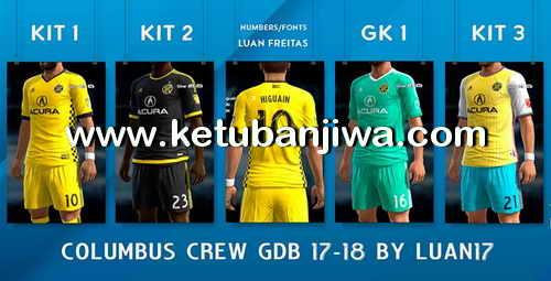 PES 2013 Columbus Crew SC GDB Adidas Kits 2017-2018 by Luan17 Ketuban Jiwa