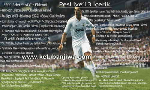 PES 2013 PESLive13 v3 AIO Season 2017-2018 Ketuban Jiwa