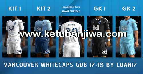 PES 2013 Vancouver Whitecaps GDB Adidas Kits 2017-2018 by Luan17 Ketuban Jiwa