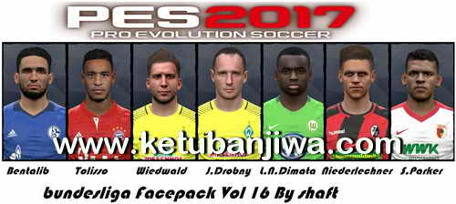 PES 2017 Bundesliga Faces Pack Vol. 16 by Shaft Ketuban Jiwa