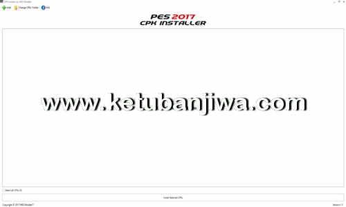 PES 2017 CPK Installer Tool Version 1.1 by MES Modder Ketuban Jiwa
