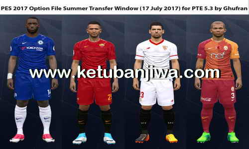 PES 2017 Option File Update 17 July 2017 For PTE 5.3 by Ghufran Ketuban Jiwa