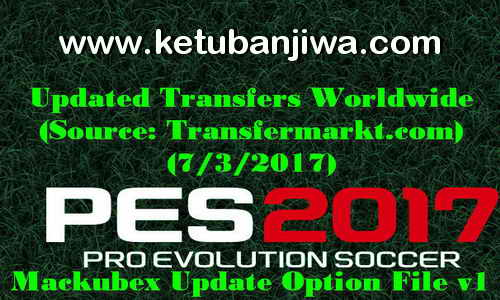 PES 2017 Option File v1 For PTE Patch Transfer Update 03 July 2017 by Mackubex Ketuban Jiwa
