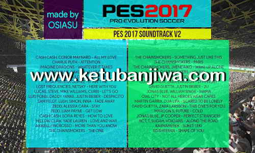 PES 2017 Soundtrack V2 by OSIASU Ketuban Jiwa