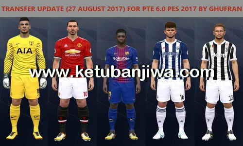 Download PES 2017 PTE Patch 6.0 Option File Transfer Update 27 August 2017 by Ghufran Ketuban Jiwa