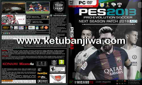 PES 2013 Next Season Patch 2017-2018 AIO Singe Link