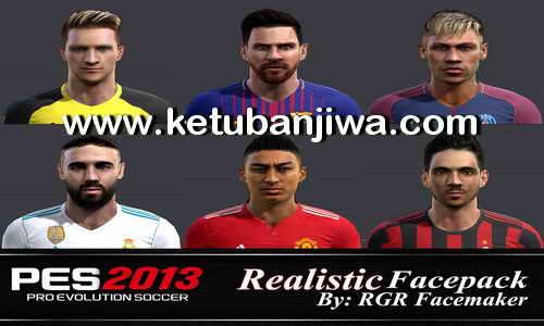 PES 2013 Realistic Facepack by Rgr Facemaker Ketuban Jiwa