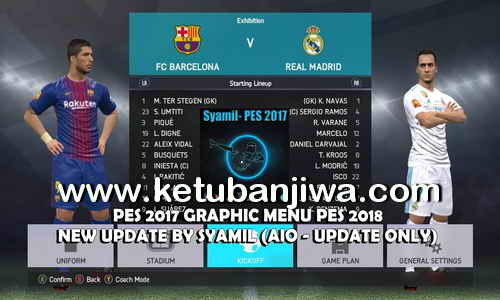PES 2017 Graphic Menu PES 2018 v2 AIO