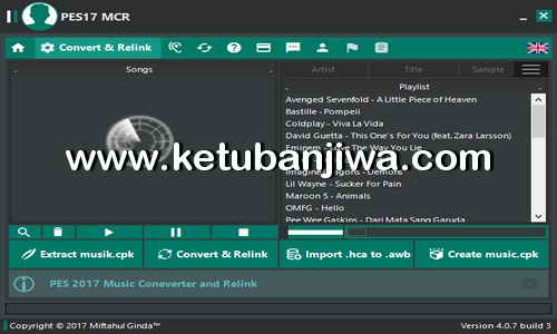 PES 2017 Music Converter Relink Tool MCR v4.0 AIO Final Version by Ginda01 Ketuban Jiwa