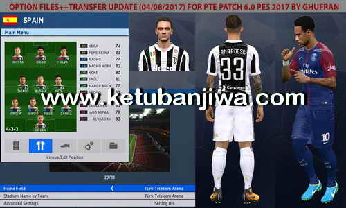 PES 2017 Option File Transfer Update 04 August For PTE Patch 6.0 by Ghufran Ketuban Jiwa