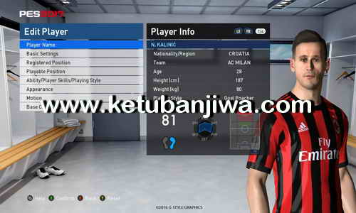 PES 2017 Option File Transfer Update 23 August 2017 For PES Professionals Patch v3.4 by Boris Ketuban Jiwa