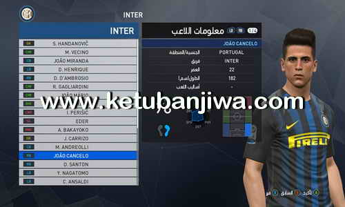 PES 2017 Option File Transfer Update 23 August For PTE Patch 6.0 by Osama Mohammad Mistarihi Ketuban Jiwa