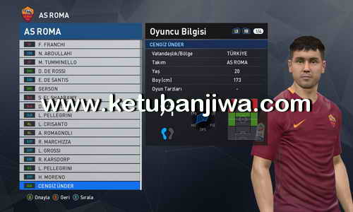 PES 2017 Option File Update 03 August 2017 For PTE Patch 6.0 by Onur52 Ketuban Jiwa