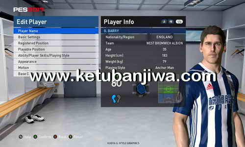 PES 2017 Option File Update Transfer 17 August 2017 For PES Professionals Patch 3.4 by Boris Ketuban Jiwa