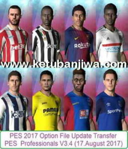 PES 2017 Transfer Update 17.08.2017 Professionals 3.4