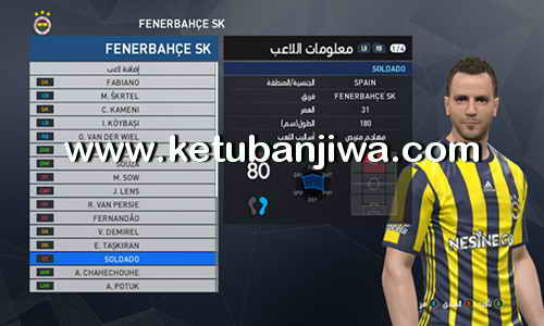 PES 2017 PTE Patch 6.0 Option File Update 13 August 2017 by Osama Mohammad Mistarihi Ketuban Jiwa