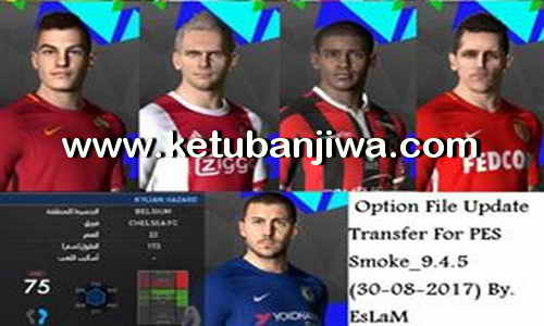 PES 2017 SMoKE Patch 9.4.5 Option File + FixUpdate 30 August 2017 byEslam Ketuban Jiwa