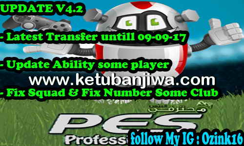 Download PES 2017 PES Professionals Patch v3.5 Option File v4.2 Transfer Update + Fix 09 September 2017 by Ozink Ketuban Jiwa