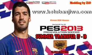 PES 2013 PS3 CFW + OFW Summer Transfer 17-18 Patch by ZiO