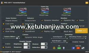 PES 2017 Auto Switcher Tool v6.0 AIO Final by Ginda01 Ketuban Jiwa