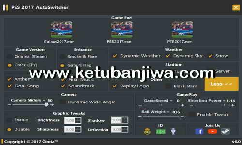 PES 2017 Auto Switcher Tool v6.0 AIO Final by Ginda01 Ketuban Jiwa