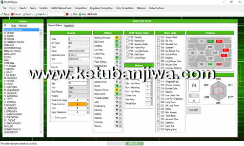 PES 2017 Editor Tool Version 0.5 by Ejogc327 Ketuban Jiwa