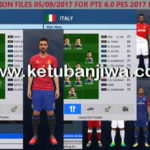 PES 2017 PTE 6.0 Option File Update + Fix 05/09/2017