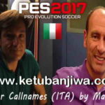 PES 2017 Player Callnames For Italian Commentary