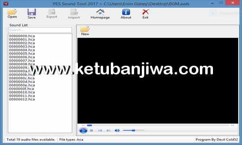 PES 2017 Sound Tool v1.0 by Devil Cold52 Ketuban Jiwa