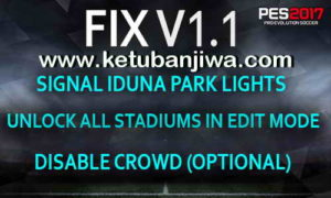 PES 2017 Stadium Pack + Graphics PS4 Fix v1.1
