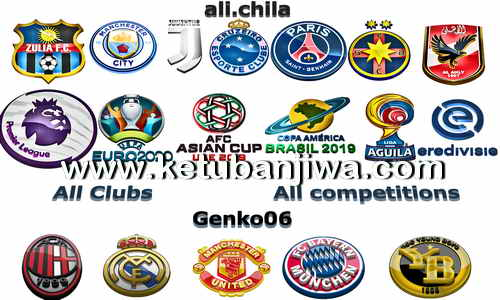 PES 2018 3D HD Logos All Teams + All Competitions by Ali Chila & Genko06 Ketuban Jiwa