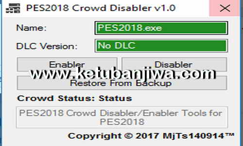 PES 2018 Crowd Disabler v1.0 Tool For Full Games Steam by MjTs-140914 Ketuban Jiwa