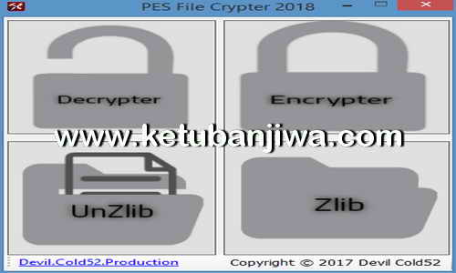 PES 2018 File Crypter Tool by Devil Cold52 Ketuban Jiwa