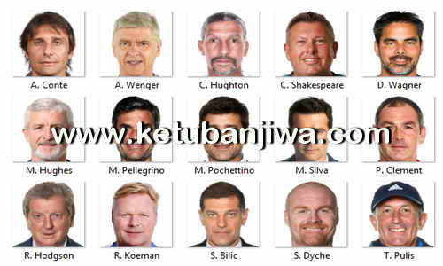 PES 2018 Manager Names + Pictures Pack v1.0 by Marouane1997 Ketuban Jiwa