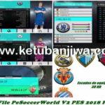 PES 2018 PC + PS4 PeSoccerWorld Option File v2 AIO