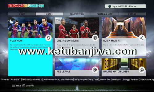 PES 2018 PS3 CFW To OFW Inject BITBOX Patch Summer 17-18 Ketuban Jiwa