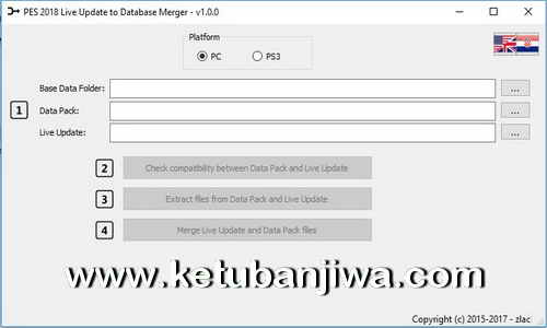 PES 2018 PS3 + PC Live Update To Database Merger v1.0 Tool by Zlac Ketuban Jiwa