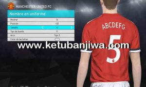 PES 2018 Premier League + LaLiga Fonts For Edit Mode by Bersuit6 Ketuban Jiwa