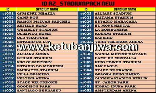 PES 2017 AZ Stadium Pack AIO by AZ Mods Ketuban Jiwa