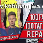 PES 2018 100 Faces + Tattoos Repack by bmS