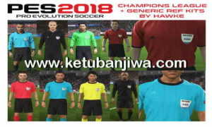 PES 2018 CL + Generic Referee Kits by Hawke