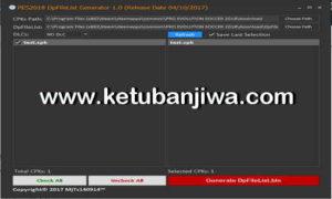 PES 2018 DpFileList Generator 1.0 by MjTs-140914 Ketuban Jiwa